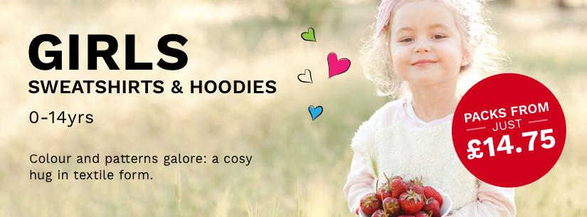 Girls Sweatshirts & Hoodies