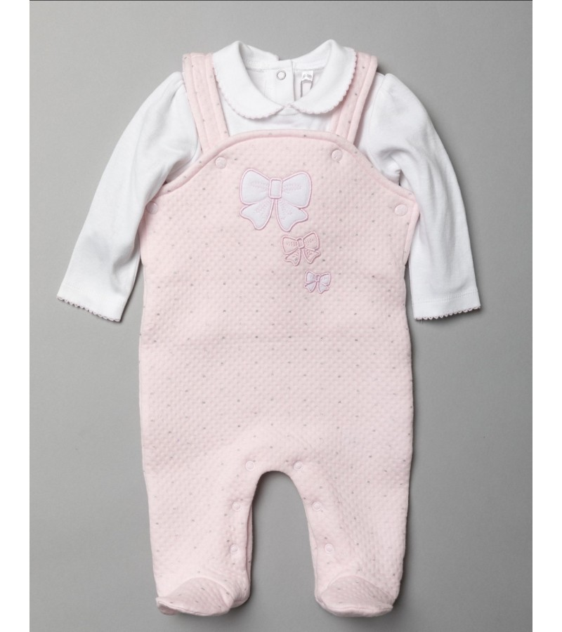 Rock a Bye Baby Boutique 'Bow' Baby Girls Dungaree Set PACK OF 6