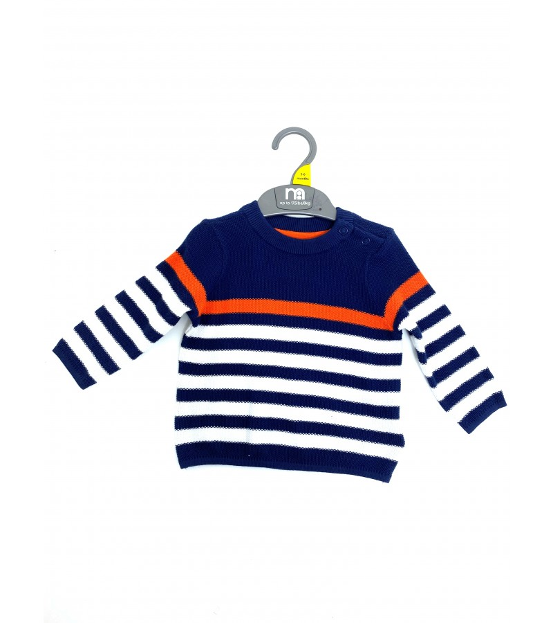 Ex M--e Baby Boys Striped Jumper PACK OF 10
