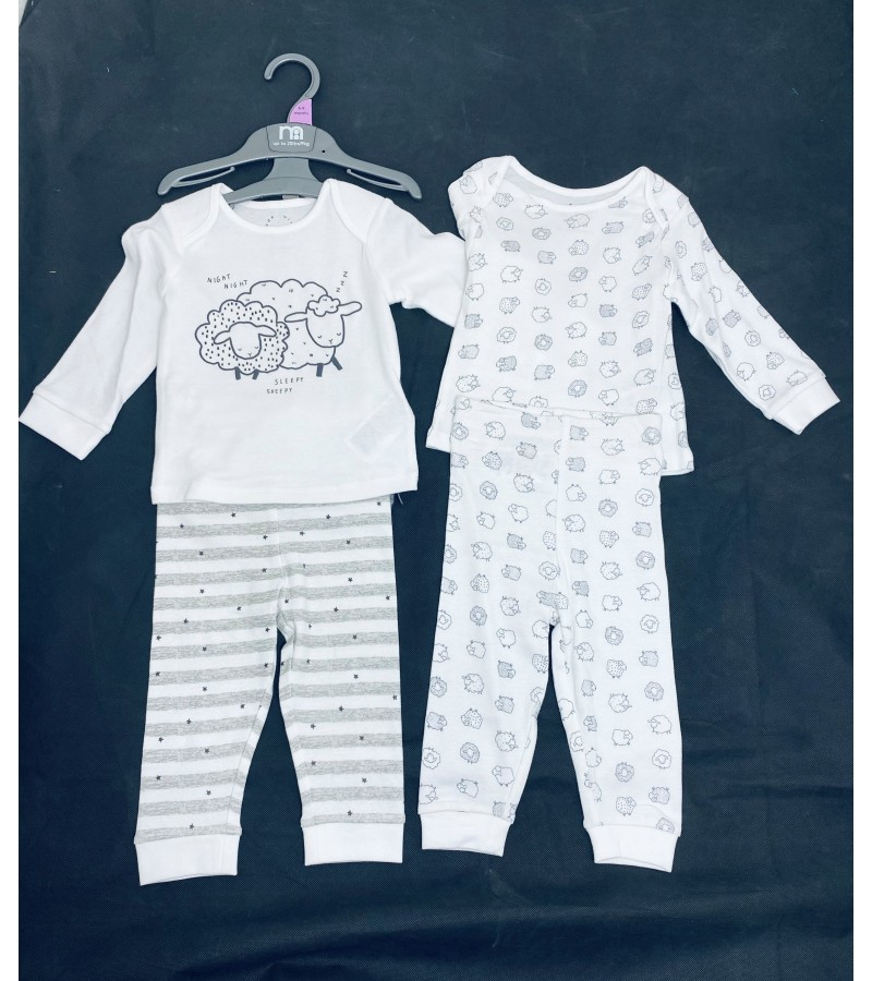 Ex M--e 2 Pack of Baby Boys and Girls Pyjamas PACK OF 7