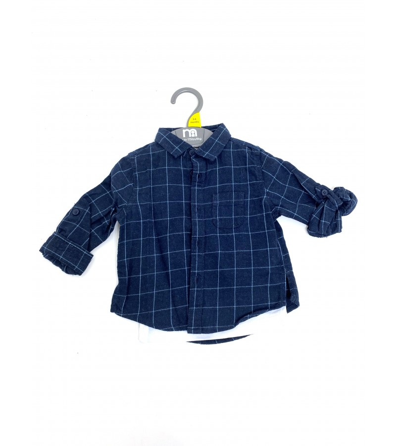 Ex M--e Baby Boys Checked Shirt with T Shirt PACK OF 10