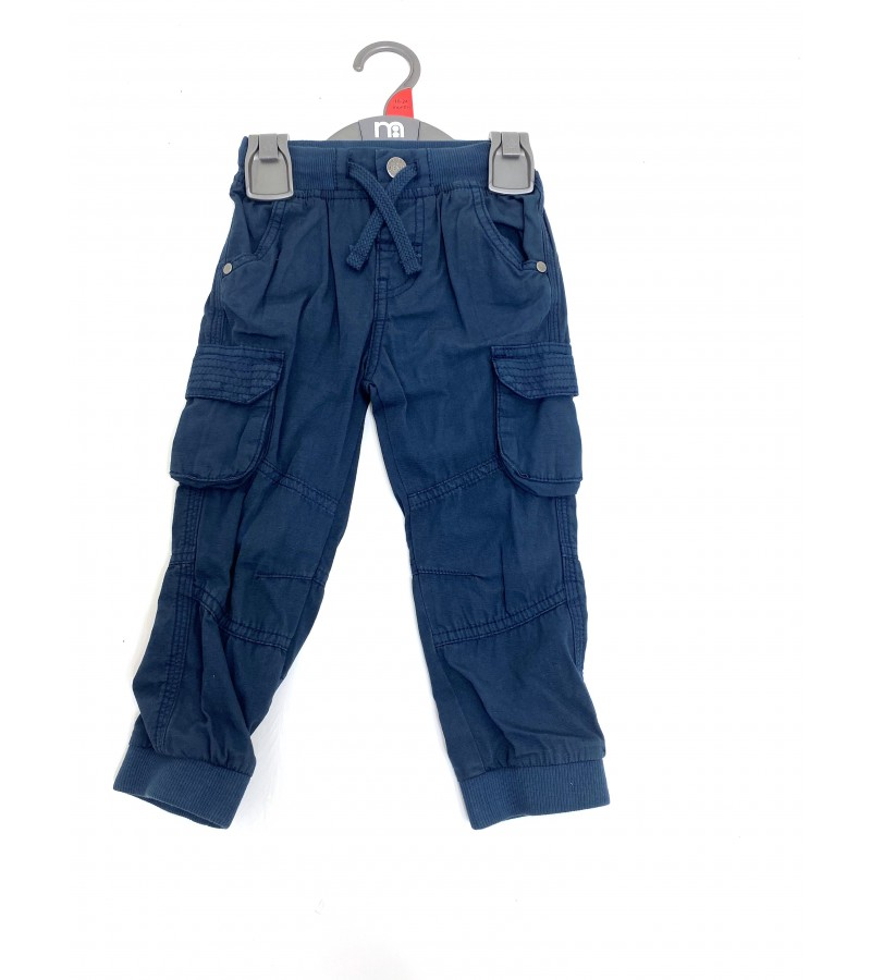 Ex M--e Baby Boys Navy Blue Cargo Pants PACK OF 10