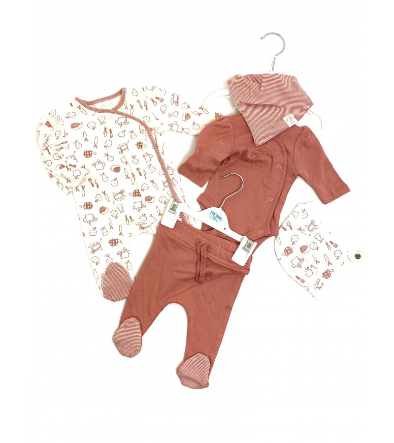 Ex Store Baby Girls 5 Pieces Set PACK OF 10