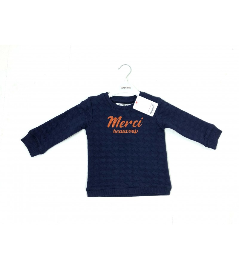 REDUCED PRICE Symphony 'Prep 12'  Baby Girls Navy Blue Sweatshirt PACK OF 9