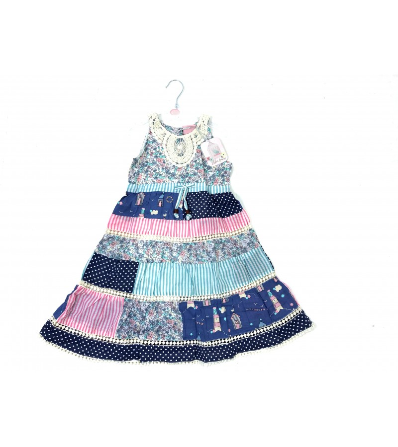 Chloe Louise 'Patchwork' Girls Dress PACK OF 6