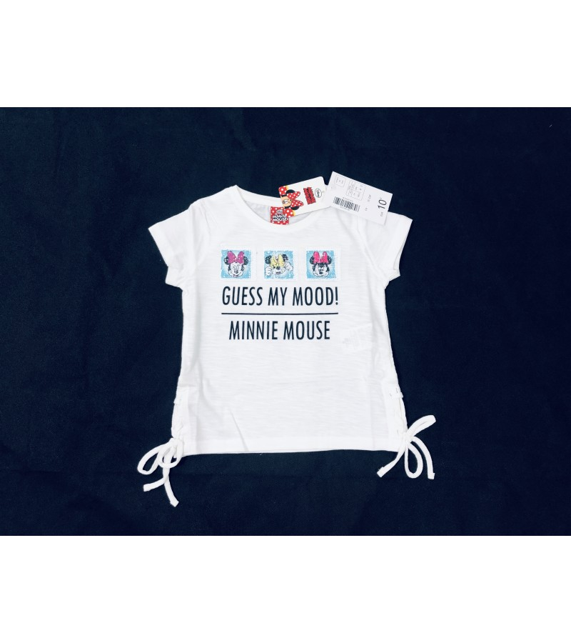 Disney 'Minnie Mouse' Girls White T Shirt  PACK OF 10