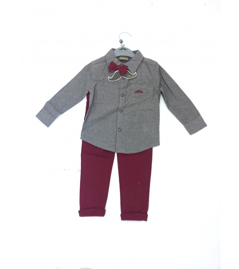 Little Gent Boys Shirt and Pants Set PACK OF 4