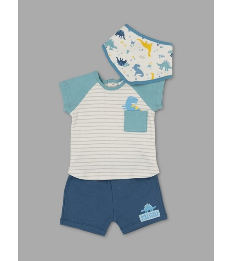 Lily & Jack Green Label  'Dinosaur' Baby Baby Boys 3 Pieces Set PACK of 4