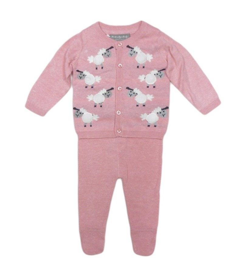 REDUCED PRICE Rock a Bye Baby Boutique 'Sheep' Baby Girls Knitted Set PACK OF 6