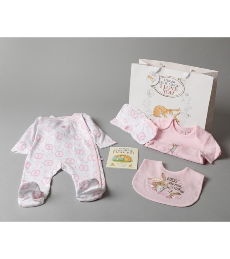 'Guess How Much I Love' Baby Girls 5 Pieces Set  PACK OF 4