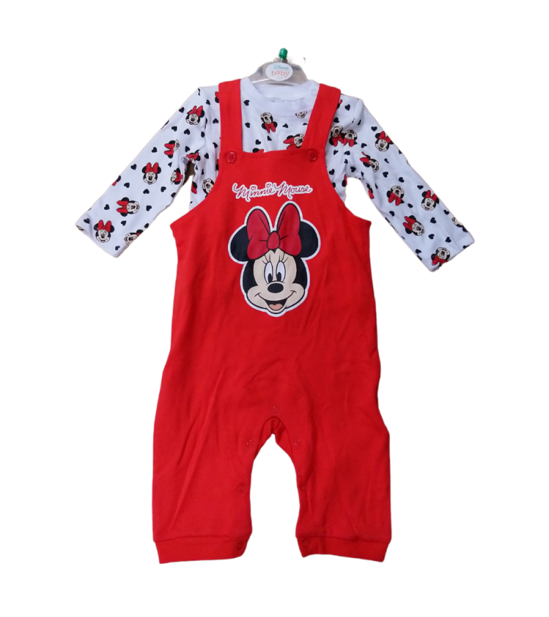Disney 'Minnie Mouse' Baby Girls Dungaree Set PACK OF 10