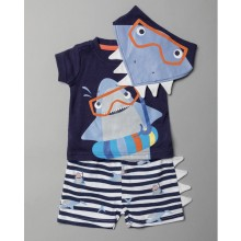 Lily & Jack 'Shark' Baby Boys 3 Pieces Set  PACK OF 6