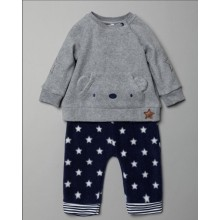 Rock a Bye Baby Boutique Baby Boys Fleece 2 Pieces Set PACK OF 6