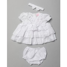 Rock a Bye Baby Baby Girls Dress and Knickers Set PACK OF 6