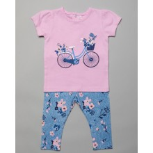 Mini Moi 'Bicycle' Baby Girls Top and Leggings Set PACK OF 4