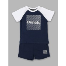 Bench Baby Boys Navy Blue/White T Shirt and Shorts Set PACK OF 7