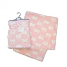 Snuggle Baby 'Bear'  Baby Girls Pink Wrap PACK OF 5