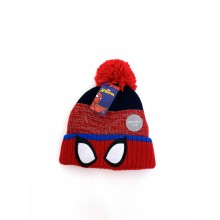 Spider Man Boys Hat with Pom Pom  PACK OF 8