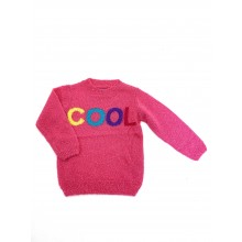 REDUCED PRICE Little Kids 'Cool' Girls Pink Knitted Jumper PACK OF 8