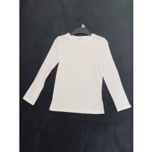 Ex Store Girls White Long Sleeved Top PACK OF 6