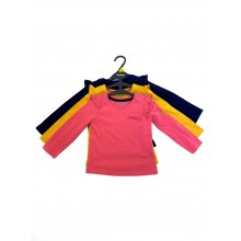 Ex Store Girls 3 Pack of Long Sleeved Tops PACK OF 7