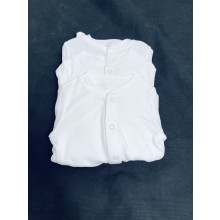 Ex Store Unisex 3 Pack of White Sleepsuits PACK OF 10