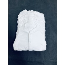 Ex Store Unisex 5 Pack of White Sleepsuits PACK OF 10