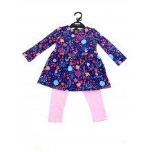 Ex Store 'Autumn'  Baby Girls Dress and Leggings Set PACK OF 6