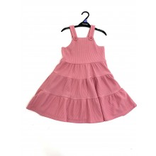 Ex Store Girls Dusty Pink Pinafore PACK OF 5