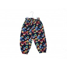 Mini Moi Girls Patterned Navy Blue Harem Trousers PACK OF 6