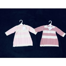 Angel Kids Baby Girls Striped Knitted Dress  PACK OF 6