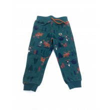 Ex Store 'Camping' Baby Boys Green Jogpants PACK OF 10