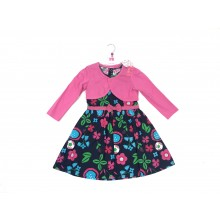 REDUCED PRICE Mini Moi Girls Navy Blue 'Floral' Dress and Bolero Set PACK OF 6