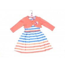 Mini Moi Girls Striped Dress and Bolero Set PACK OF 6