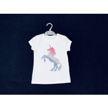 Ex Store 'Unicorn' Girls White T Shirt PACK OF 12