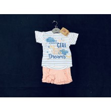 Lily & Jack 'Little Girl Big Dream' Baby Girls T Shirt and Shorts Set PACK OF 8