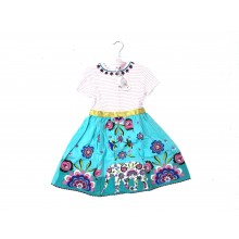 REDUCED PRICE Chloe Louise 'Striped/Floral' Girls Dress PACK OF 6