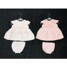 Rock a Bye Baby Boutique Baby Girls Embroidered Dress with Knickers PACK OF 6
