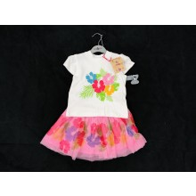 REDUCED PRICE Lily & Jack 'Flowers' Girls T Shirt and Skirt Set PACK OF 6