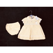 Rock a Bye Baby Boutique Baby Girls Embroidered Yellow Dress with Knickers PACK OF 6