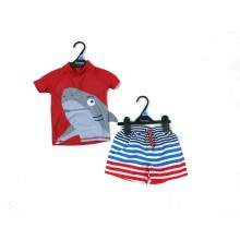 Ex Store 'Shark' Baby Boys Sun Safe Set PACK OF 7