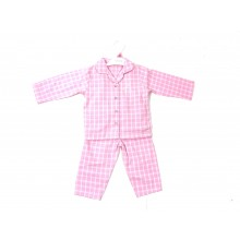 Ex Store Baby Girls Checked Pink  Pyjamas PACK OF 6