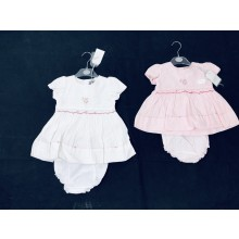 Rock a Bye Baby Boutique 'Roses' Baby Girls Embroidered Dress with Knickers PACK OF 6