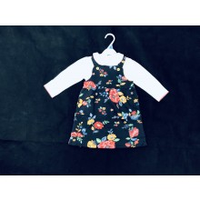 Ex Store Baby Girls 'Floral' Pinafore Set PACK OF 6