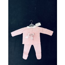 REDUCED PRICE Rock a Bye Baby Boutique 'Bow' Baby Girls Pink Knitted 2 Pieces  Set PACK OF 6