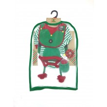 Lily & Jack 'Elf' Baby Boys Christmas 5 Piece Set in Net Bag PACK OF 4