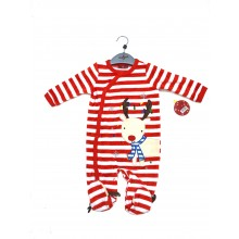 Lily & Jack Christmas Babies Velour Sleepsuit PACK OF 6