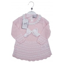 Rock a Bye Baby Boutique 'Bow' Baby Girls Knitted Dress PACK OF 6