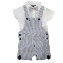 Rock a Bye Baby Baby Boys Striped Dungaree with Bow Set PACK OF 8