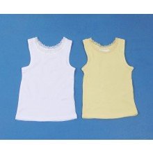Ex Store Girls Lace Neck Vest Top PACK OF 10